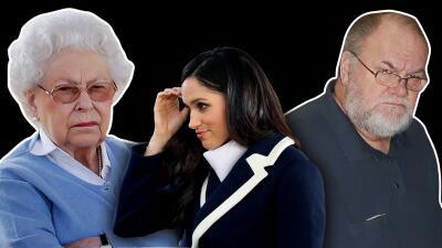 Enojada la reina Isabel II por el show que ha hecho el padre de Meghan Markle