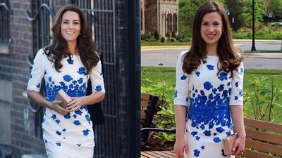 Esta mujer sería la mayor admiradora de Kate Middleton en EEUU y su guardarropa lo demuestra