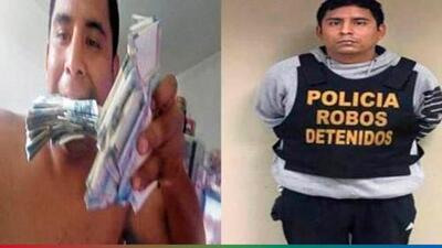 Por presumir en Facebook un gran fajo de billetes, policía descubre a ladrón y banda de criminales