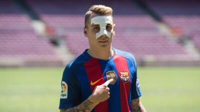 "Lucas Digne fue presentado con Barcelona: ""Me gusta atacar y soy un lateral moderno"""