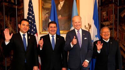 Biden pide a presidentes del Triángulo Norte erradicar la corrupción