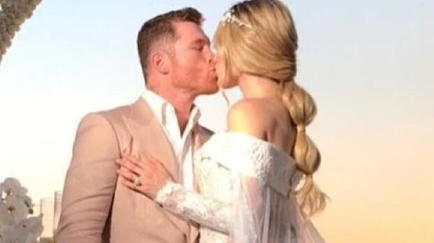 ¡Canelo se casó! El boxeador realizó su boda con Fernanda Gómez