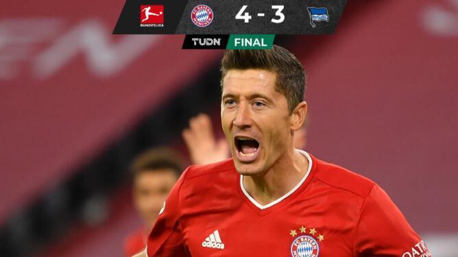 Con póquer de Lewandowski, el Bayern gana