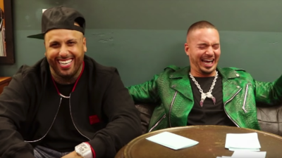 J Balvin and Nicky Jam sing like Spongebob
