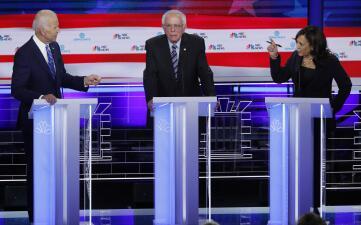 Más intensidad y confrontación en el segundo debate de aspirantes demócratas (fotos)