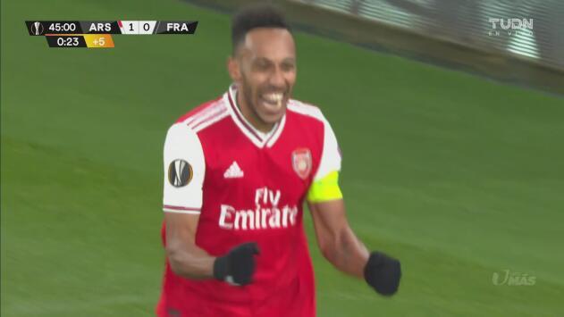 ¡Ataque letal! Aubameyang alborota el graderío con el primer gol del Arsenal