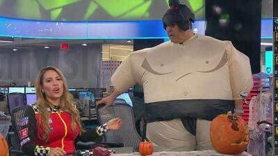 Así se vivió en Locura Deportiva la fiesta de Halloween: Pablo Ramírez se disfrazó del sumo 'Tachidotuchou'