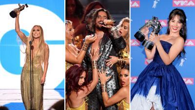 EN FOTOS: Latinos que brillaron en la entrega de los MTV VMAs 2018