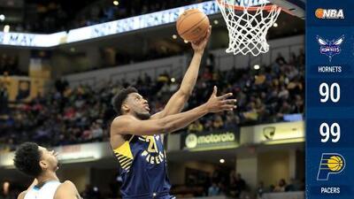 Sin Oladipo, los Pacers llevan seis victorias al hilo al vencer a los Hornets