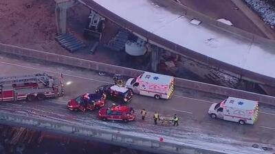El hielo y la nieve provocan varios accidentes de tránsito en Chicago y sus alrededores