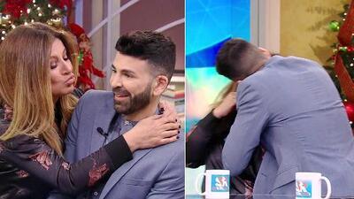 Jomari Goyso respondió a una broma y le plantó un beso en la boca a Paola Gutiérrez