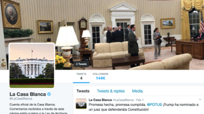 White House Spanish-language Twitter account falls into disuse despite Trump's Twitter addiction