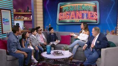 Johnny Lozada y su equipo 'Los Peque Flow' llegaron a contarnos todo sobre su gran triunfo en Pequeños Gigantes