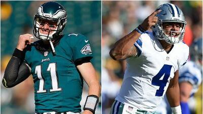 La rivalidad Carson Wentz vs. Dak Prescott podría ser el nuevo Manning-Brady