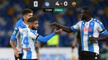 Con Hirving Lozano, Napoli golea a la Roma en emotivo homenaje a Maradona