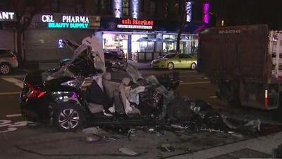 Una persona murió y otra resultó herida tras un violento accidente de tránsito en Manhattan