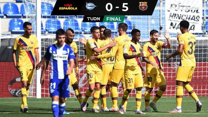 Se despide el Barcelona con goleada al Alavés