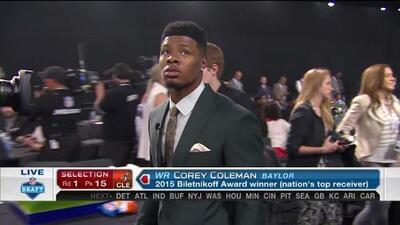 Pick 15 (Cleveland Browns): Corey Coleman, WR, Baylor