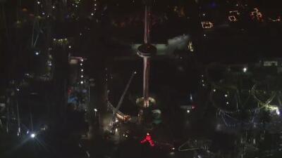 Video: Así fue la caída y el rescate de una joven del teleférico 'Sky Ride' en Six Flags