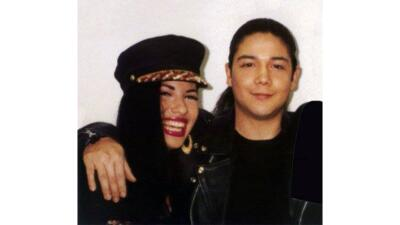 Selena and Chris Perez throughout the years