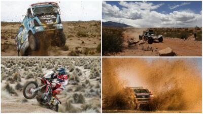 Los carros del Rally Dakar