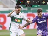 Real Betis deja ir la victoria ante Elche y complica pelea por puestos europeos