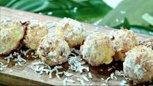 Bolitas de coco rallado