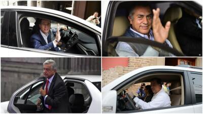 Los carros de los candidatos a la Presidencia de México