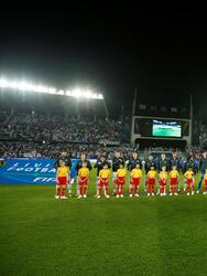 Soccer Football - Club World Cup - Final - Real Madrid v Al Ain - Zayed Sports City Stadium, Abu Dhabi, United Arab Emirates - December 22, 2018 General view of both teams lined up before the match REUTERS/Andrew Boyers