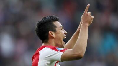 Hirving 'Chucky' Lozano se estrenó como goleador del PSV en la Eredivisie
