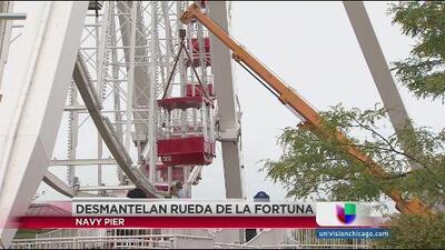 Desmantelan la rueda de la fortuna Ferris Wheel