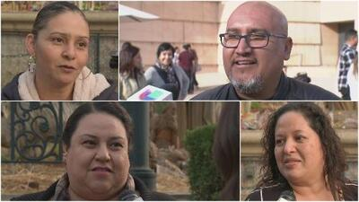 Inmigrantes agradecen y piden en la Placita Olvera de Los Ángeles tras la Nochebuena