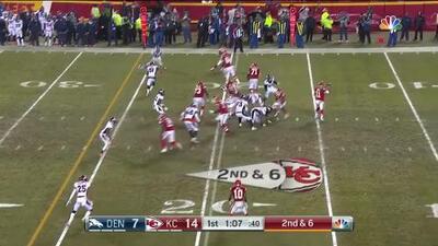 Sorprendente escapada de 80 yardas hasta el TD ante la defensa de Denver