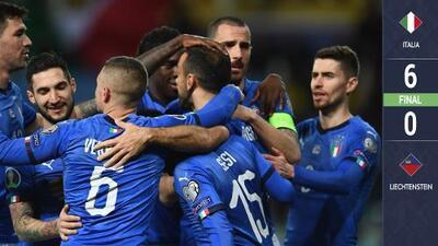 ¡Ni las manos metieron! Italia humilló a Liechtenstein y mete miedo en Europa