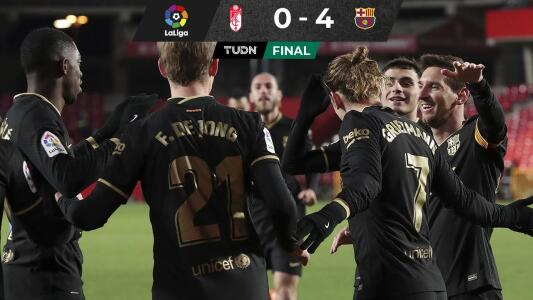 Barcelona golea al Granada con Messi y Griezmann enchufados