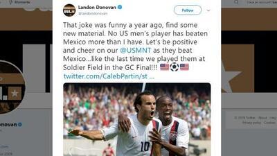 Landon Donovan 'calentó' la Final y dejó entrever que México fue su 'cliente'