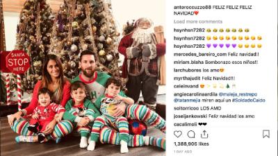 Lionel Messi en pijama revoluciona las redes en Navidad