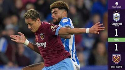 Chicharito y el West Ham rescataron el empate ante el modesto Huddersfield Town
