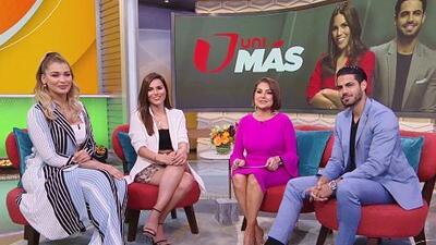 Karina Banda llegó con porra para dar una sorpresa junto a Migbelis Castellanos y Roberto Hernández