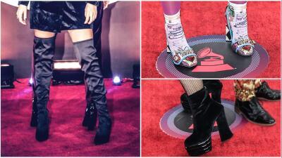 Tacones de aguja, plataformas y brillantes: así fueron los zapatos de estas famosas a su paso por Latin GRAMMY 2017