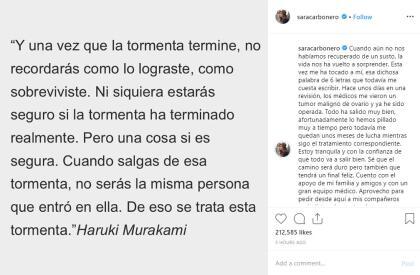 Sara Carbonero Anuncia Que Lucha Contra Un Cáncer Y Fue