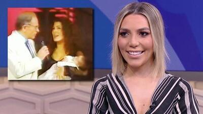 Frida Sofía ríe a carcajadas al verse en brazos de Alejandra Guzmán en su primera aparición en TV