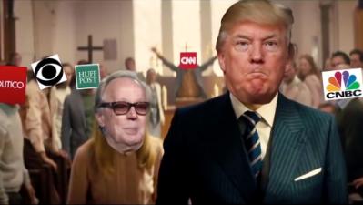 Video meme de Trump masacrando a sus críticos fue mostrado en un evento organizado en un resort del presidente