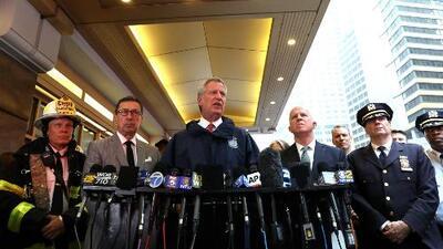 Tras accidente de un helicóptero en Manhattan, alcalde De Blasio confirma que por el momento no hay más heridos