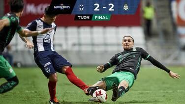 ¡Súper Hugo! Rayados rescató un empate ante Santos de la mano de su arquero