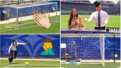Reto al gol olímpico: Félix fue un genio y Xavi Sol, a dos intentos, lamentable...