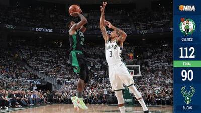 Celtics pega primero ante Bucks y toma ventaja en Milwaukee