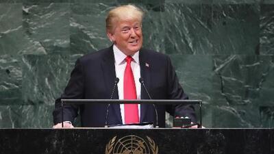 Trump alaba los logros de su gobierno y la audiencia en la ONU se ríe