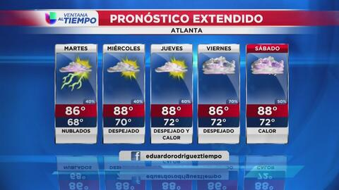 Calor moderado llega a Atlanta