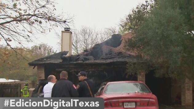 Un incendio deja serios daños en una casa en Converse